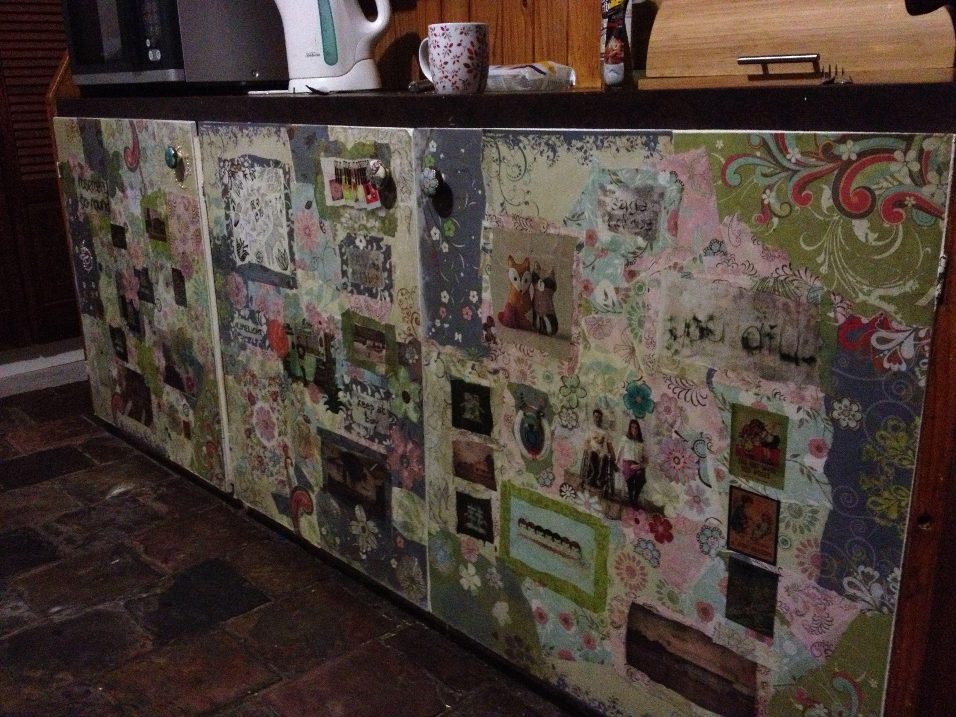 Decoupaged Cupboard Doors In Our Kitchen Cupboard Doors Renovations Doors
