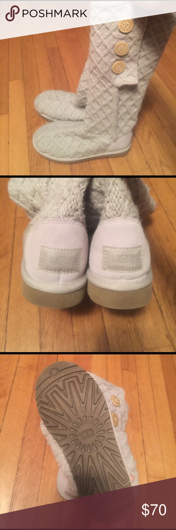 UGG Lattice Cardy Knit Boots Cream 7 Cute boots. Authentic UGG. Barely worn. Soles in great shape. UGG Shoes