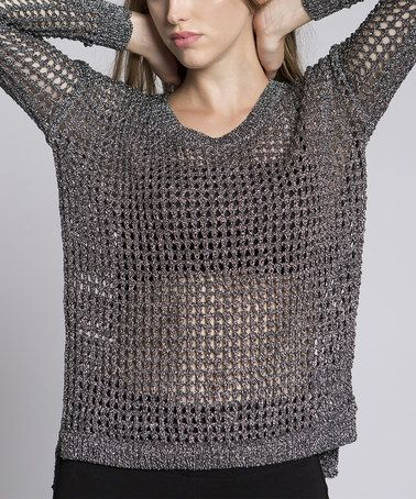 78e9b1cd4 Look what I found on  zulily! Silver The Chainmail Sweater ...