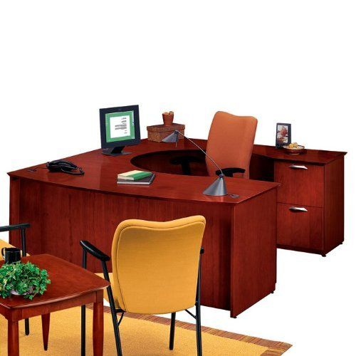 National Office Furniture U Desk With Right Bridge By