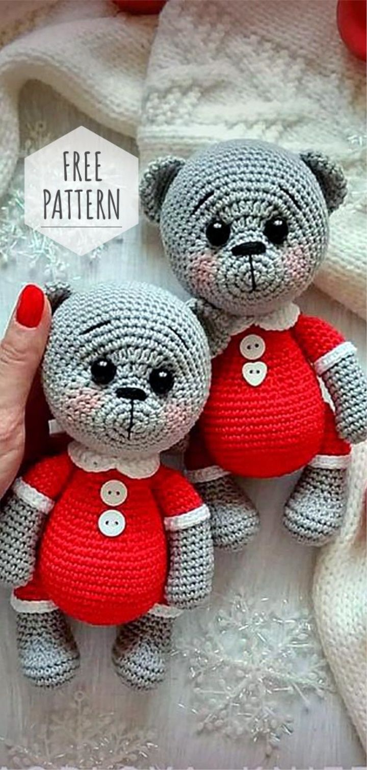 Amigurumi Teddy Bear Free Pattern #crochetbearpatterns