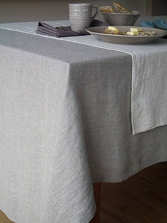 linen teblecloth with leather Google paieka Linas Pinterest