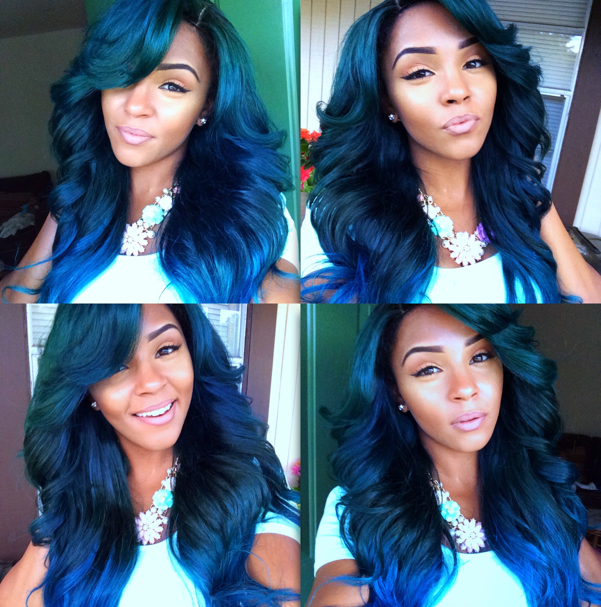 Kind Of Miss My Blue And Green It S So Cute Hair Styles Hair