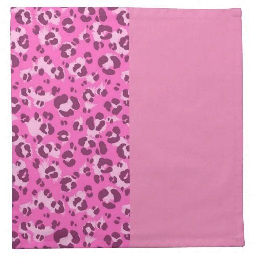 Pink Leopard Print Cloth Napkin