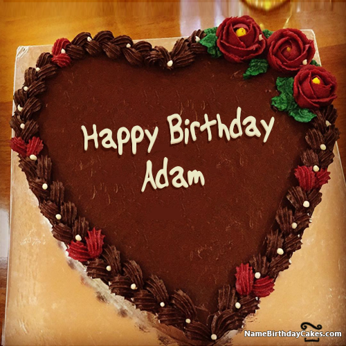 Happy Birthday Adam Video And Images Happy Birthday Adam Happy Birthday Melissa Cake Name