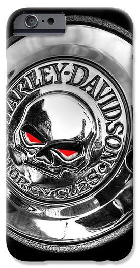 This classic Harley Davidson skull emblem photo makes a great cell phone cover. These cellphone cases are available for iPhone4 iphone5 iphone6  samsung galaxy s4 and s5 #phonecases #phonecovers #harleydavidson #biker