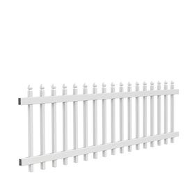 39 97 Arborley White Gothic Picket Vinyl Fence Panel Common 36 In X 8 Ft Actual 34 7 63
