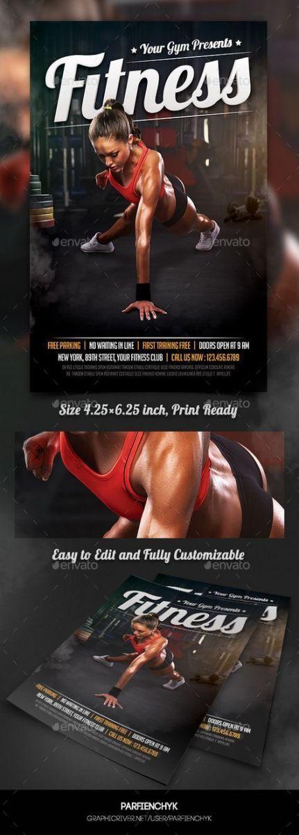 Trendy Poster Designs: 45 Trendy Fitness Poster Design Sports #fitness