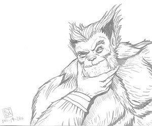 X Men Beast Coloring Pages Beast Marvel Beast Man Beast