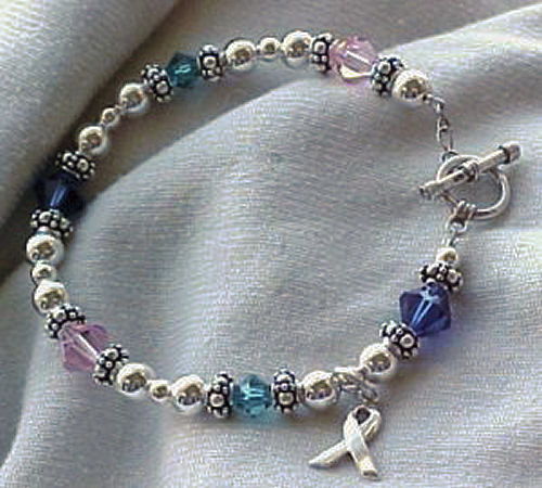 Thyroid Cancer Awareness Bracelet W Swarovski By Sweetpea321 44 00