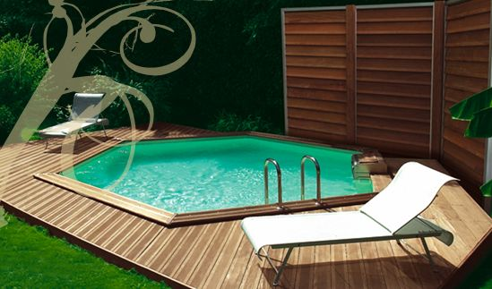 Petite piscine hexagonale piscine pinterest swimming pools backyard an - Petite piscine design ...