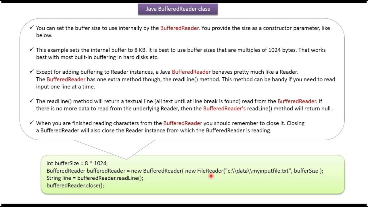 Java Tutorial Java Io Bufferedreader Java Tutorial Java
