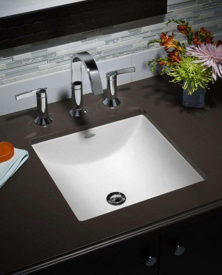Studio Carre Small Rectangular Undermount Bathroom Sink With Less
