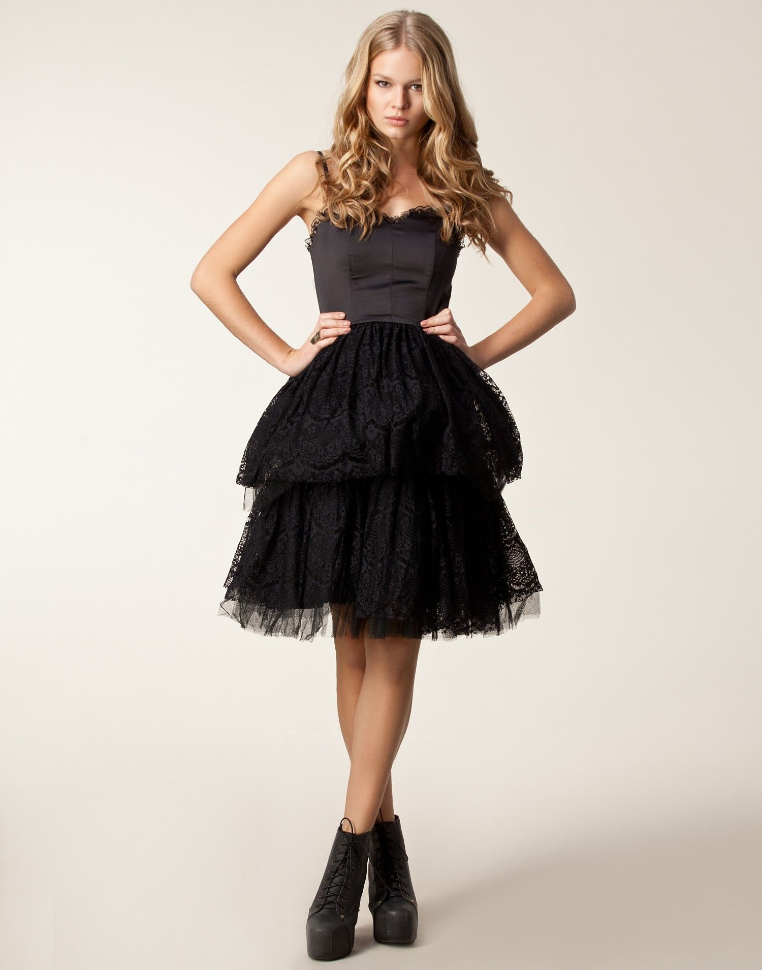 Satin Prom Dress Traffic People Black NELLYCOM UK Basic