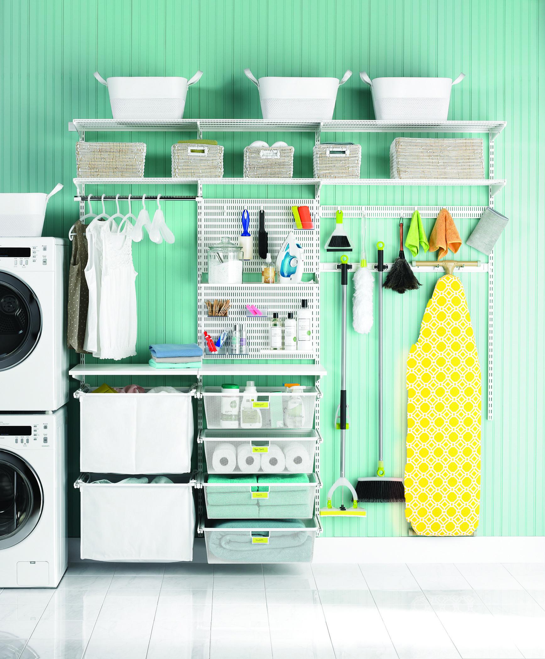 White Elfa Utility Deluxe Laundry Room In 2019 Elfa