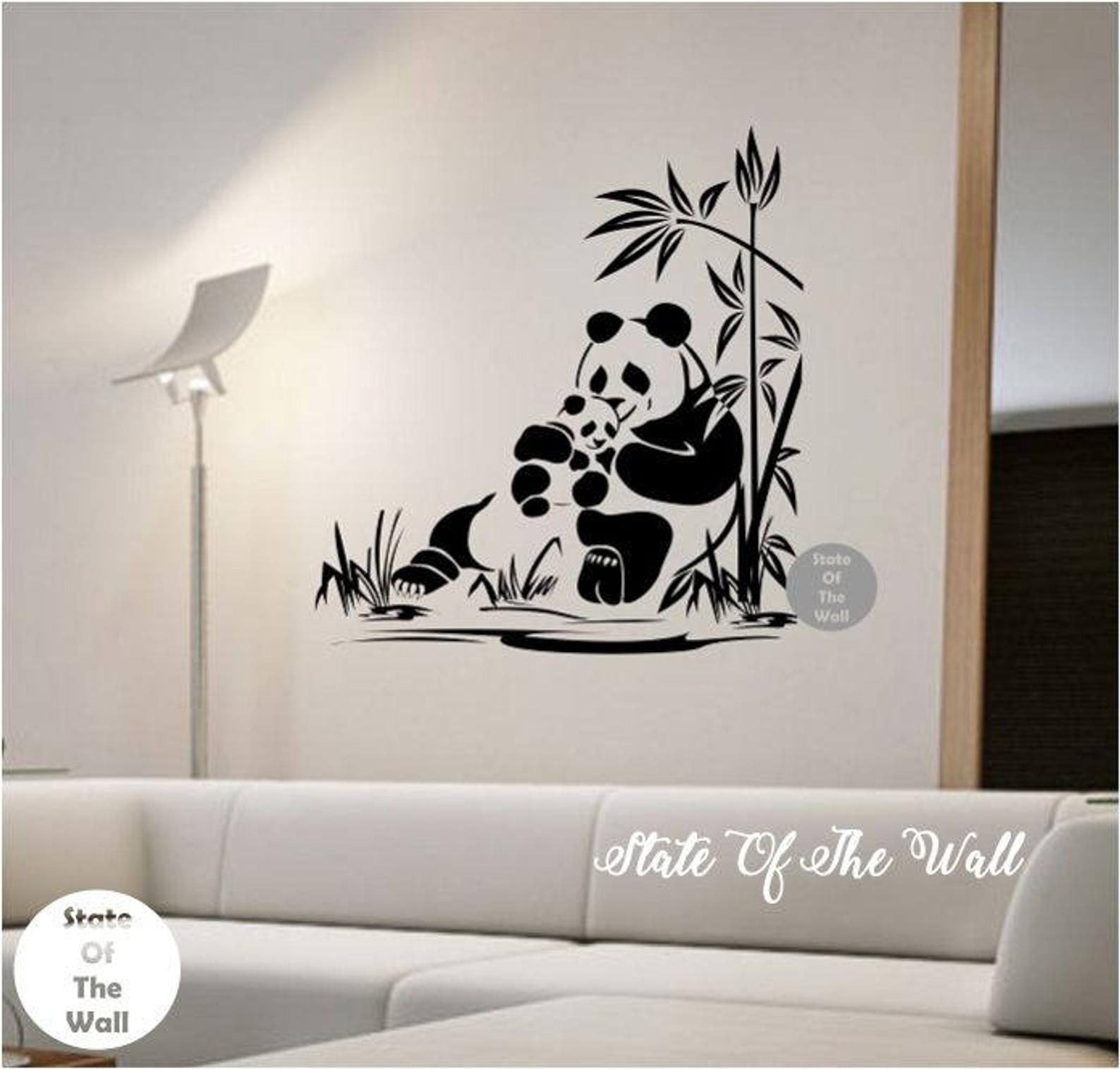 Panda Wall Decal Panda Family Sticker Art Decor Bedroom Design