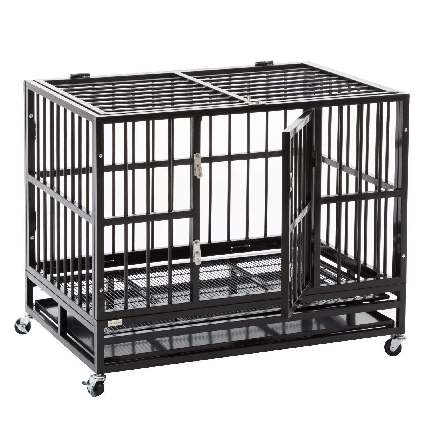 Walcut Heavy Duty Strong Metal Pet Dog Cage Crate Cannel Playpen W Wheels Check Out The Image By Visiting The Link This Large Dog Cage Dog Crate Dog Cages
