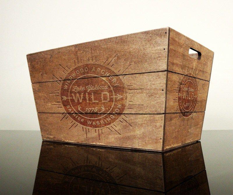 Download Free Vintage Wood Box Mockup Psd Vintage Wood Box Wood Boxes Vintage Wood