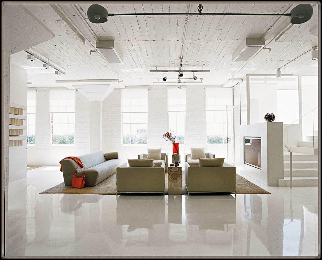 fliesen wohnzimmer glänzend  Loft interior design, Loft apartment