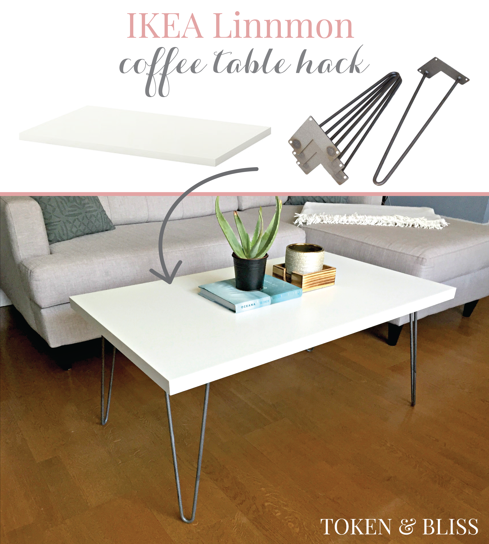 Ikea 10 Linnmon Coffee Table Hack By Token Bliss Coffee Table Hacks Coffee Table Ikea Hack Ikea Coffee Table [ 3000 x 2700 Pixel ]