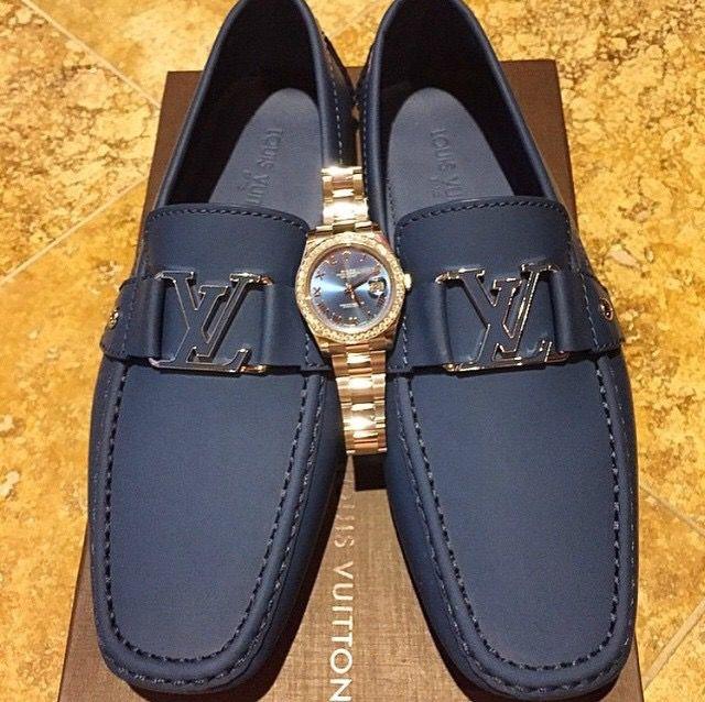 aa1b91b110b0 Rolex DateJust x Louis Vuitton Loafers