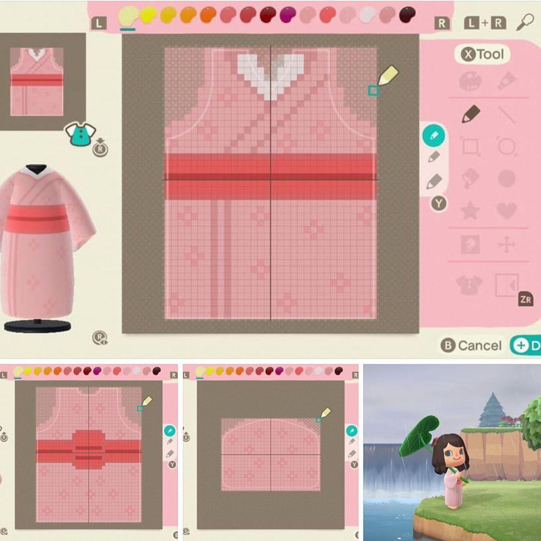 Animal Crossing New Horizon Shared A Photo On Instagram Cherry Blossom Kimono See 38 P Animal Crossing Game Animal Crossing Villagers Animal Crossing