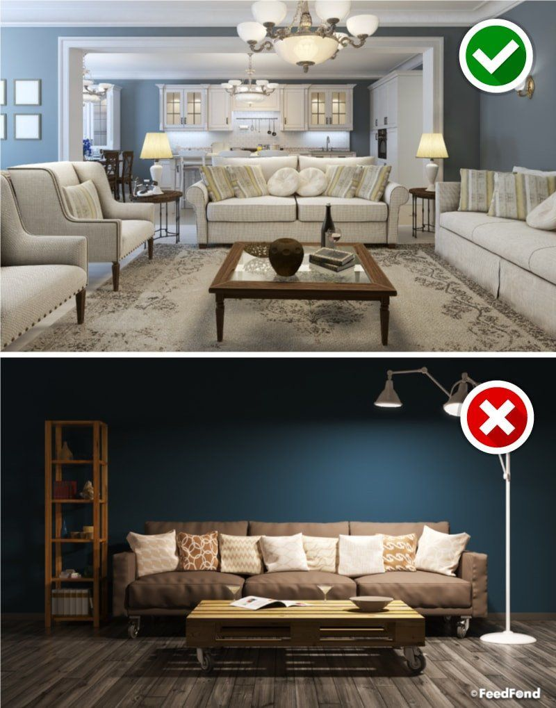 Big Furniture Small Living Room Awesome Big No Avoid These 16 Design Mistakes In Your Living Room In 2020 Best Living Room Design Big Living Rooms Living Room Ceiling