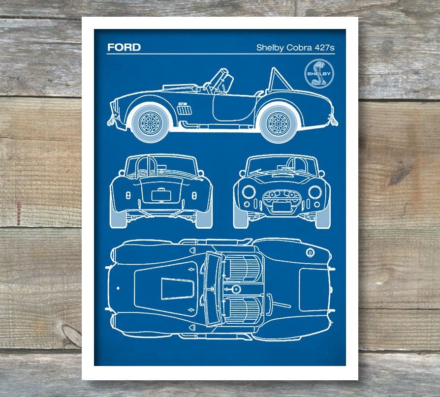 Patent print ford shelby cobra blueprint 427s shelby cobra poster patent print ford shelby cobra blueprint 427s shelby cobra poster auto art malvernweather Choice Image