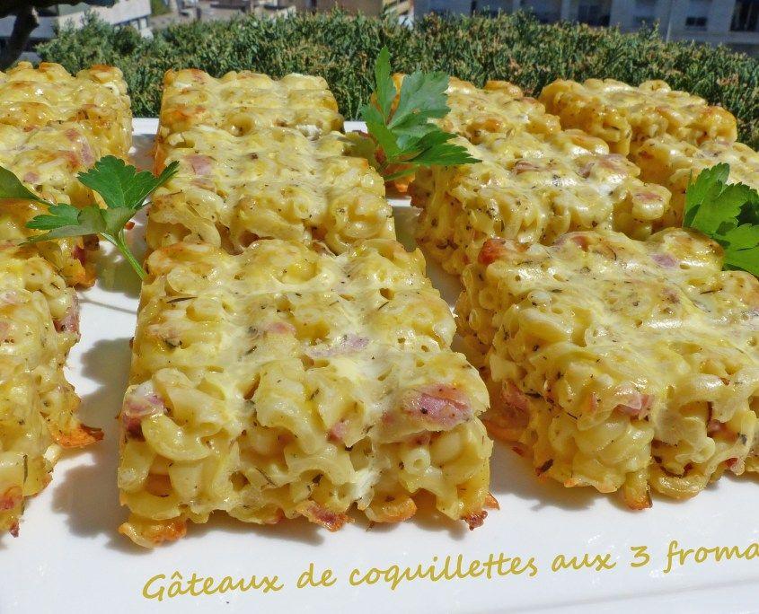 Gâteaux de coquillettes aux 3 fromages - Foodista Challenge #62 - Croquant Fondant Gourmand