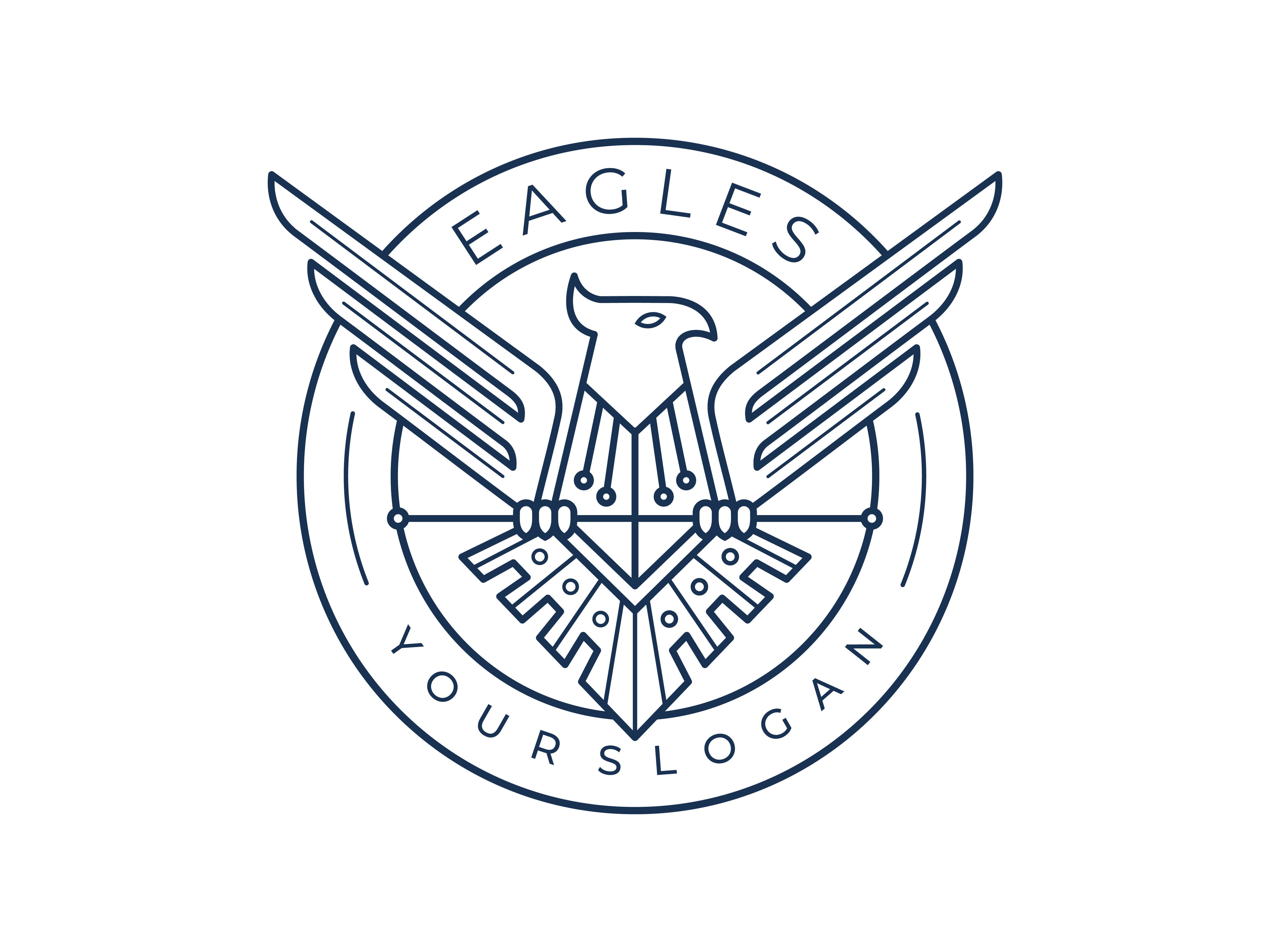 Eagle Logo Design Vector Template Desain logo, Grafis, Elang