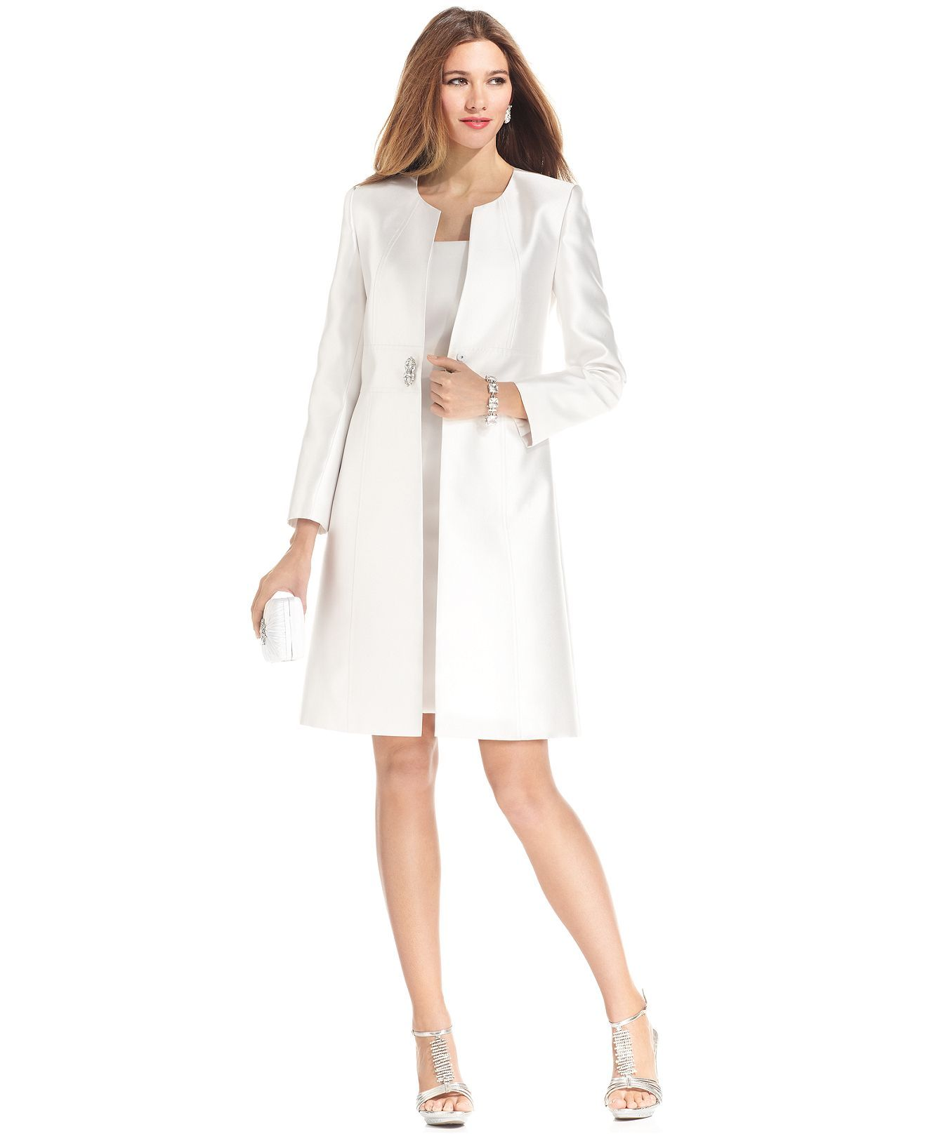 5206c9c8 Tahari by ASL Suit, Collarless Evening Jacket & Sheath Dress - Womens Suits  & Suit Separates - Macy's
