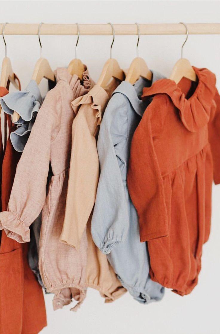 5289d17de Beautiful Handmade Linen Baby Rompers