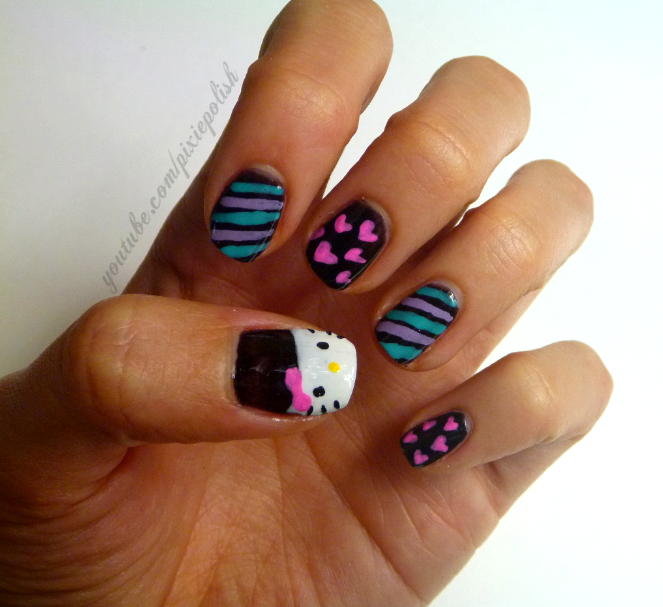 Hello Kitty Nail Art Design Ideas | Hello kitty nails, Hello kitty ...
