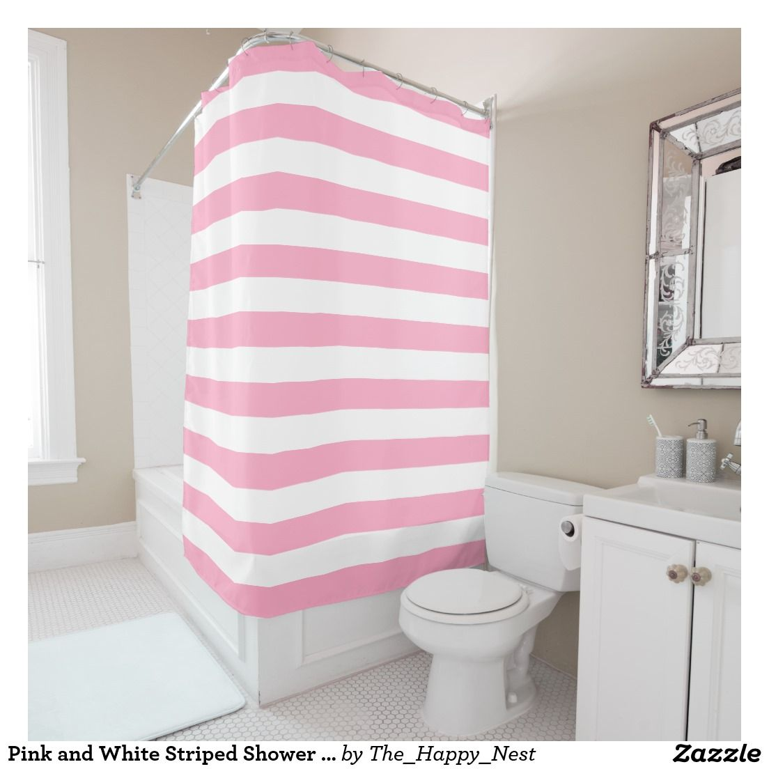 pink and white striped shower curtain. Pink And White Bold Striped Shower Curtain Pinterest Inspiring Contemporary