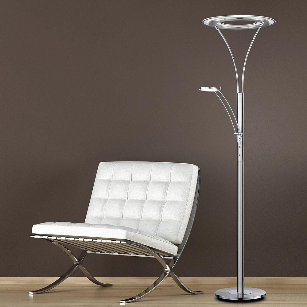 Arnsberg S Ultra Modern Berlin Led Torchiere With Reading Light