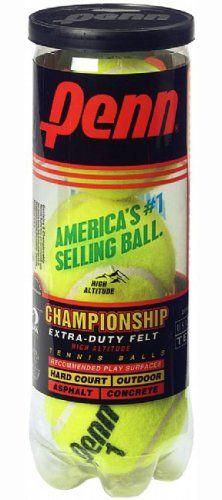 Penn Championship Extra Duty High Altitude Tennis Ball Can 3 Balls Tennis Balls Tennis Racquet Sports