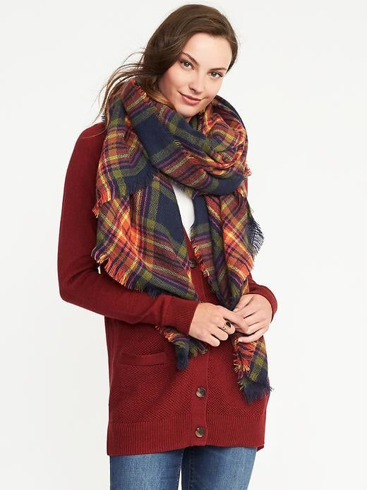 Flannel Blanket Scarf For Women Old Navy How To Wear Cold
