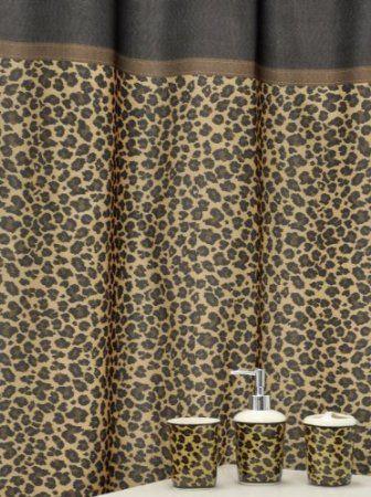 Amazon Com Famous Home Fashions Leopard Bath Accessory Set Brown