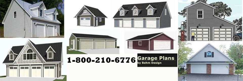 Ready to Use #GaragePlan by #BehmDesigns Unique Garage Plans in all size and Styles http://www.Behmgarageplans.com