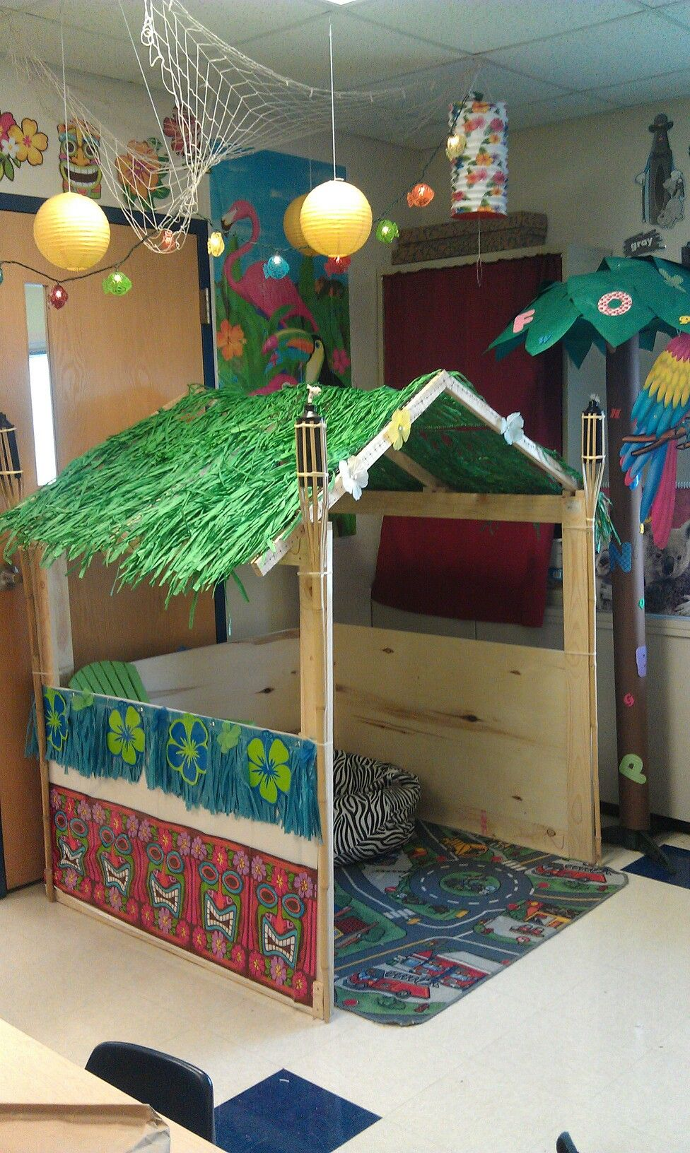 My hubby made me a tiki hut for my Kinderbabies. It's ... - photo#12