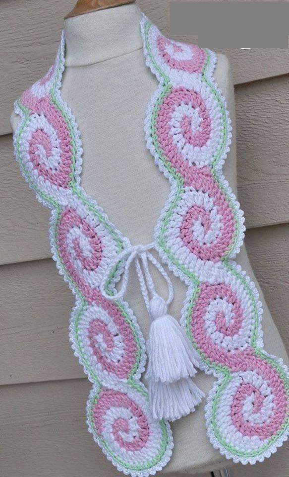 Pin By Motalinka On Crochet Scarf Pinterest Crochet Scarfs And