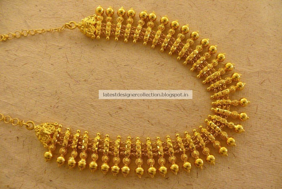 Beautiful Gold Short Necklace for Bridals ~ Latest Indian Clothing ...