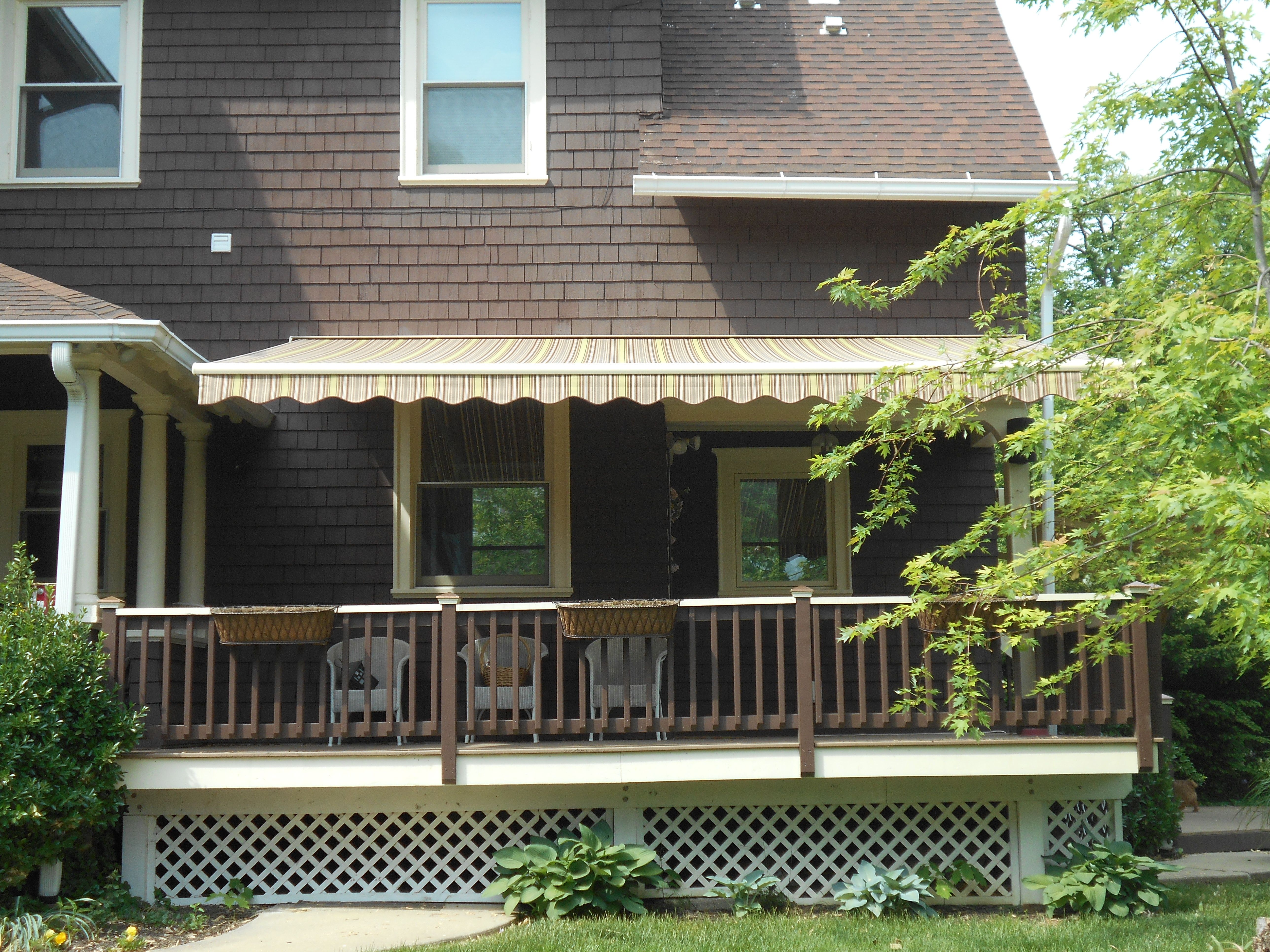 Porch Awning Baltimore | Porch awning, Deck awnings, Front ...
