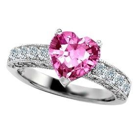 Unique Ping Diamond Heart Shaped Engagement Rings Gorgeous 3