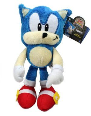 "OFFICIAL SONIC THE HEDGEHOG CLASSIC SONIC 8"" SOFT TOY PLUSH ""NEW RELEASE"