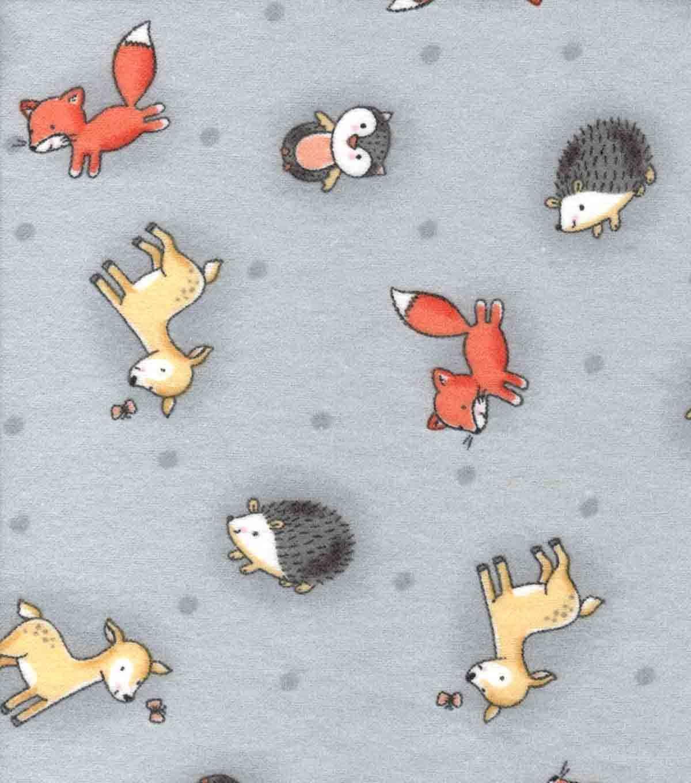 Nursery Flannel Fabric Woodland Animals