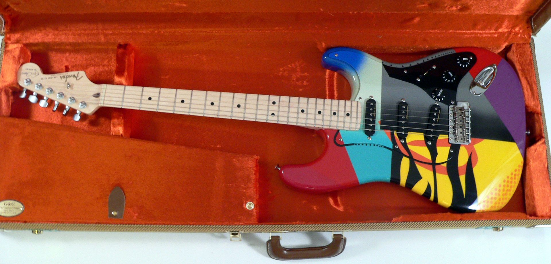 eric clapton custom fender guitars ed roman guitars crashocaster [ 1920 x 920 Pixel ]