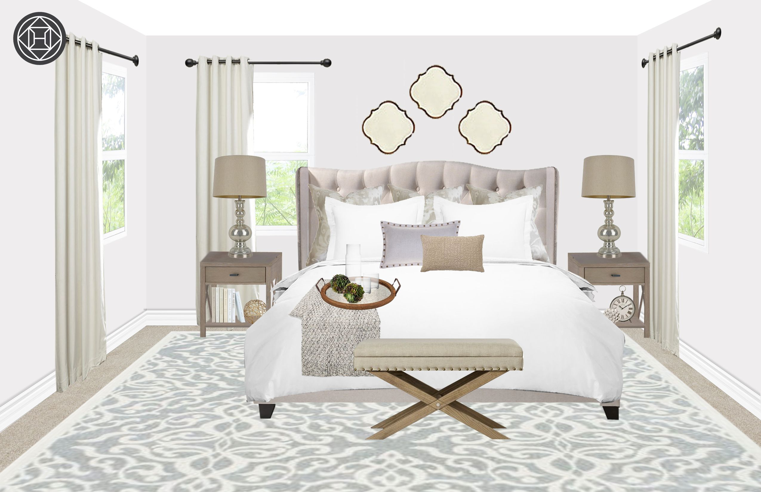 Contemporary Glam Farmhouse Rustic Bedroom Design By Havenly