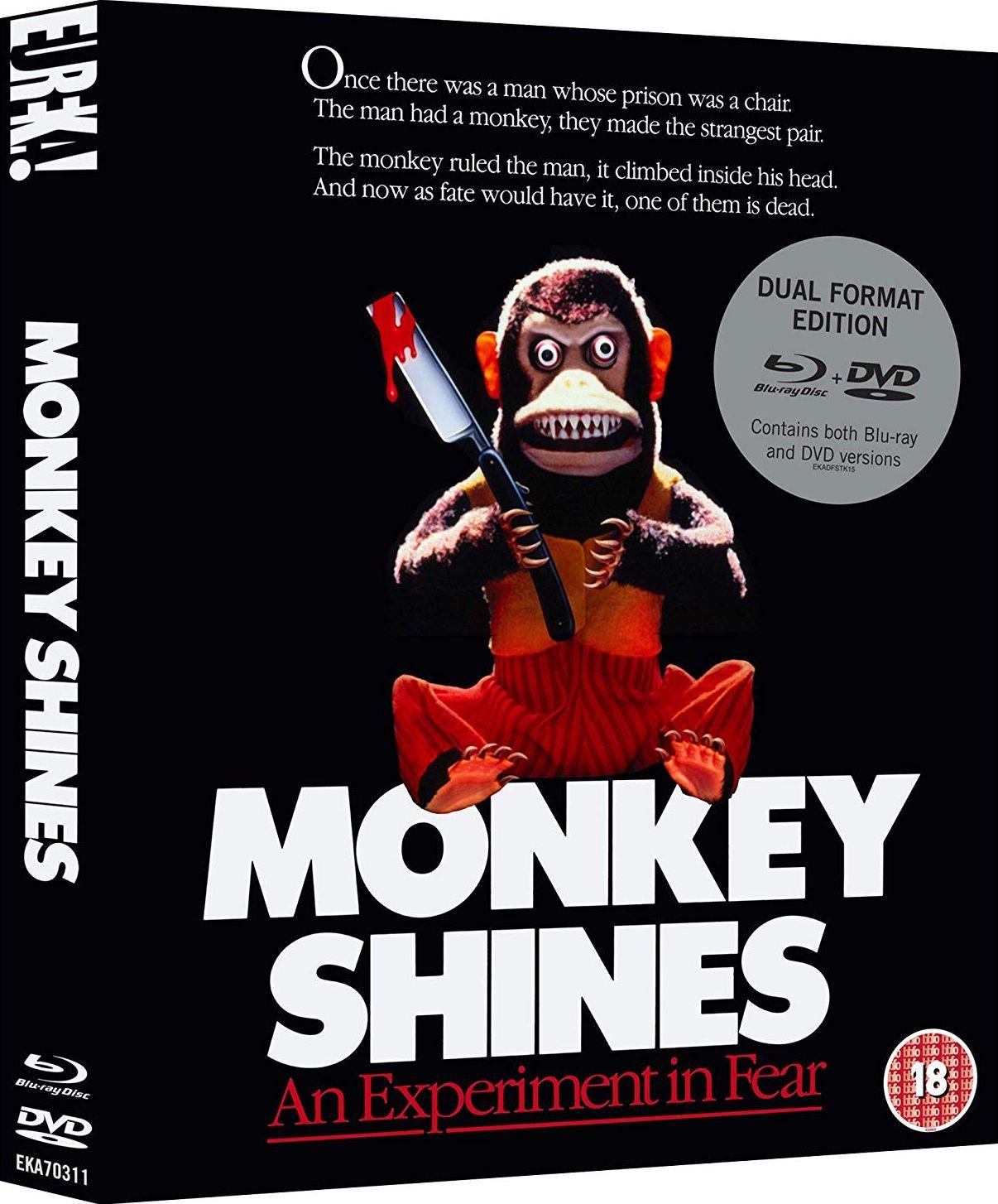 MONKEY SHINES LIMITED EDITION BLURAY SLIPCOVER UK (EUREKA