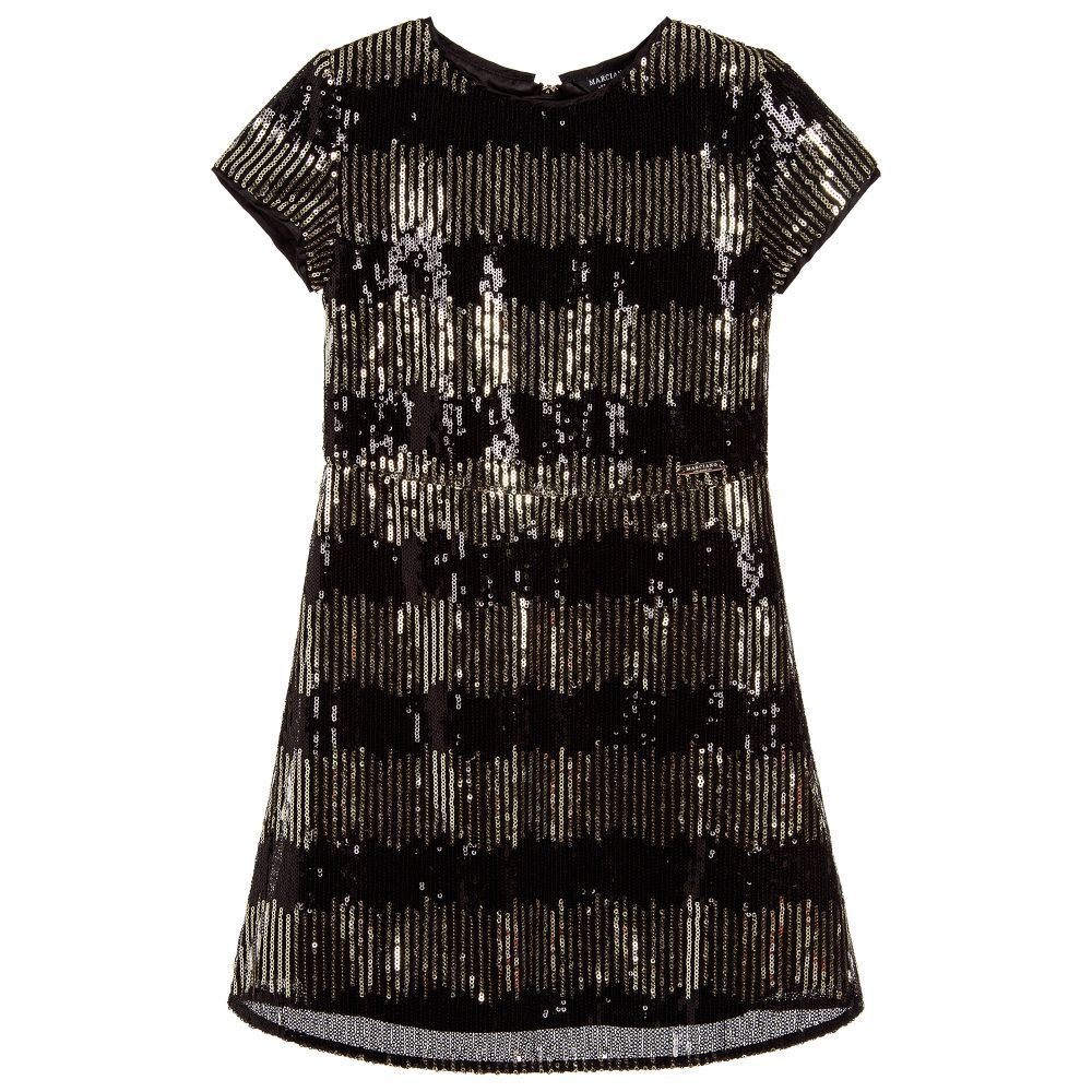 3bb268c4 Black & Gold Sequin Dress for Girl by Guess Marciano. Discover more  beautiful designer Dresses for kids